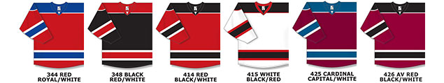6f07f24e5 H7400 AK Athletic Knit Select Series Hockey Jersey Adult S-XXXL / Youth  S-XL - $27.00 - Add $6 for XXXL Player / 4X Goal Cut