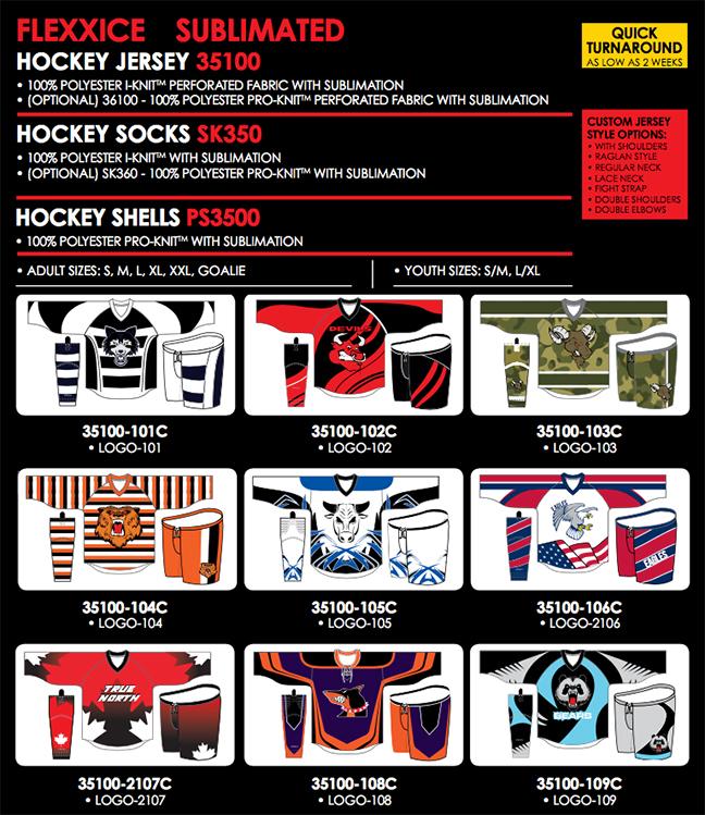 KAMAZU Custom Sublimated hockey jerseys at Hockey Jerseys