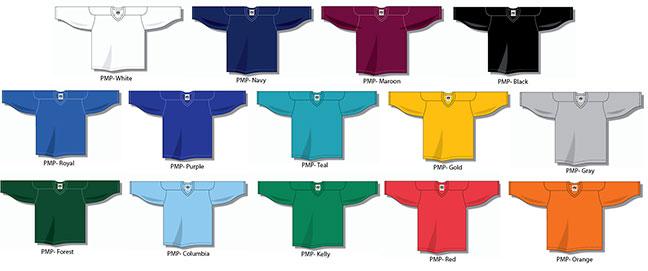 Philly Express pant shells and hockey jerseys at