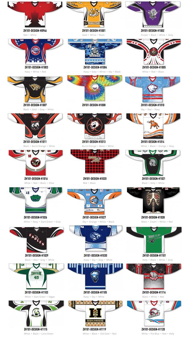 Custom Sublimated Hockey Jerseys, Pant Shells and Socks by